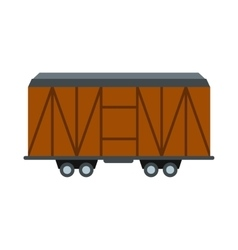 Train cargo wagon icon vector