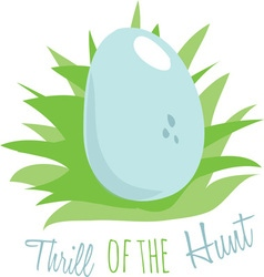Thrill of the hunt vector