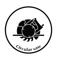 Icon of circular saw vector