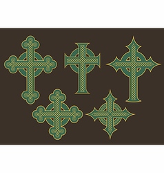 Celtic cross designs vector