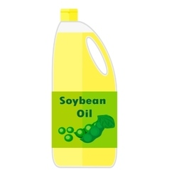 A bottle with soybean oil vector