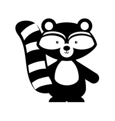 animal raccoon cartoon vector image