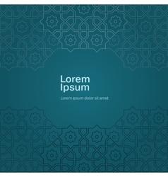 Arabic ornament design template vector