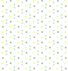 Baby Boy Pastel Polka Dots Seamless Pattern vector image