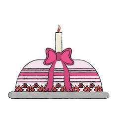 Birthday cake icon vector