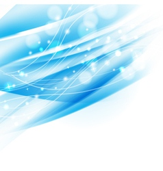 blue abstract shiny background vector image