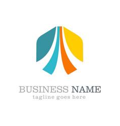Business vision polygon logo vector