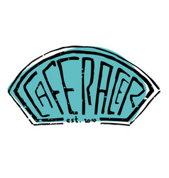 Cafe racer text lettering vector