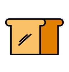 delicious bread isolated icon design vector image