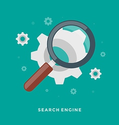 Flat design business concept search engine vector