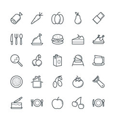 Food cool icons 4 vector
