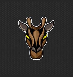giraffe logo design template giraffe head icon vector image vector image