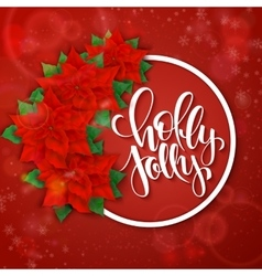Hand drawn christmas lettering greetings vector