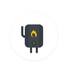 heating system icon in flat style vector image vector image