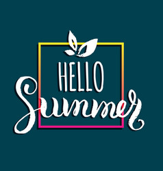 hello summer background fun vector image