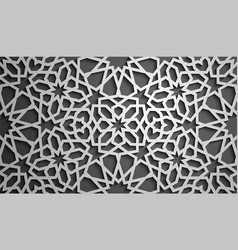 islamic ornament persian motiff 3d vector image