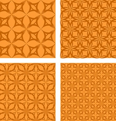 Orange seamless pattern background set vector