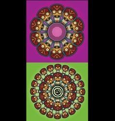 Robotic skulls circle design vector
