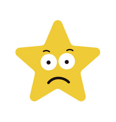 star cute character sad expression vector image vector image