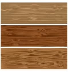 Three variants of wooden texture vector image