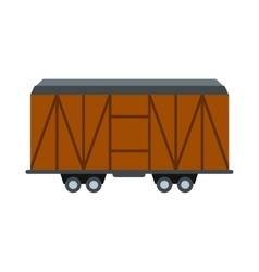 Train cargo wagon icon vector