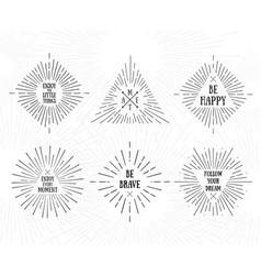 Tribal boho frames starburst inspirational logo vector
