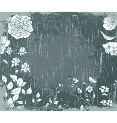 vintage background with floral vector image