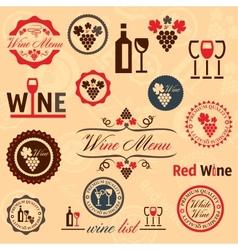wine labels set vector image vector image