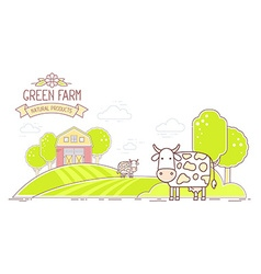 Agribusiness horizontal of colorful modern vector