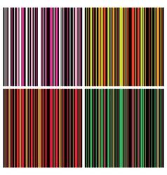 vintage stripes set vector image