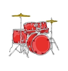 Drum set musical instrument vector