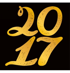 2017 numbers for quote lettering vector image
