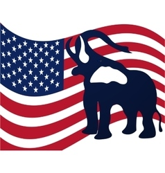 Republican elephant in the background of the vector