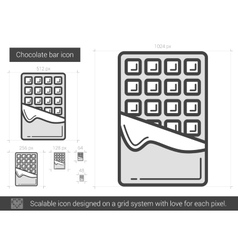 Chocolate bar line icon vector