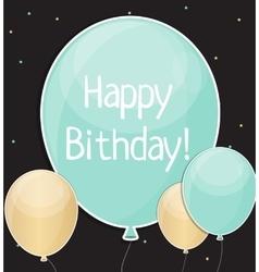 Glossy happy birthday balloons background vector