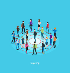 targeting isometric template vector image