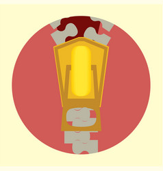 flat tailor zipper icon vector image