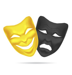 golden and black mask theatre vector image