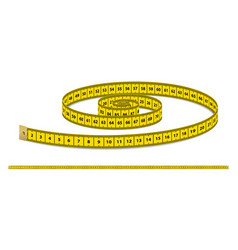 yellow realistic measuring tape strap for vector image