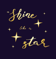 shine like a star vector image