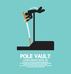 Pole vault athletes graphic symbol vector