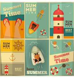 Sea summer holidays vector