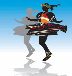 Traditional dancer vector