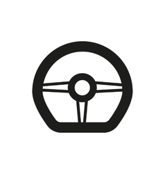 The steering wheel icon auto symbol flat vector
