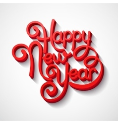 Inscription happy new year vector