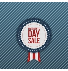Presidents day sale realistic label with ribbon vector