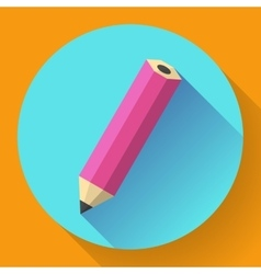 Office pencil icon business flat design style vector