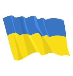 political waving flag of ukraine vector image