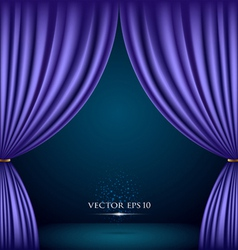 Violet theater curtain background vector