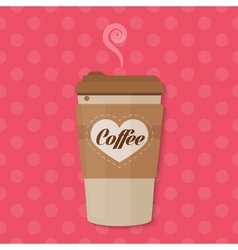 Bright color Paper Coffee cup concept vector image